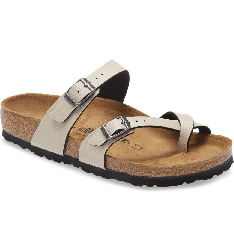 BIRKENSTOCK 'Mayari' Birko-Flor<sup>™</sup> Sandal, Main, color, STONE PULL UP