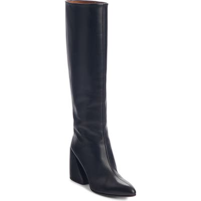 Chloe Wave Knee High Boot, Black