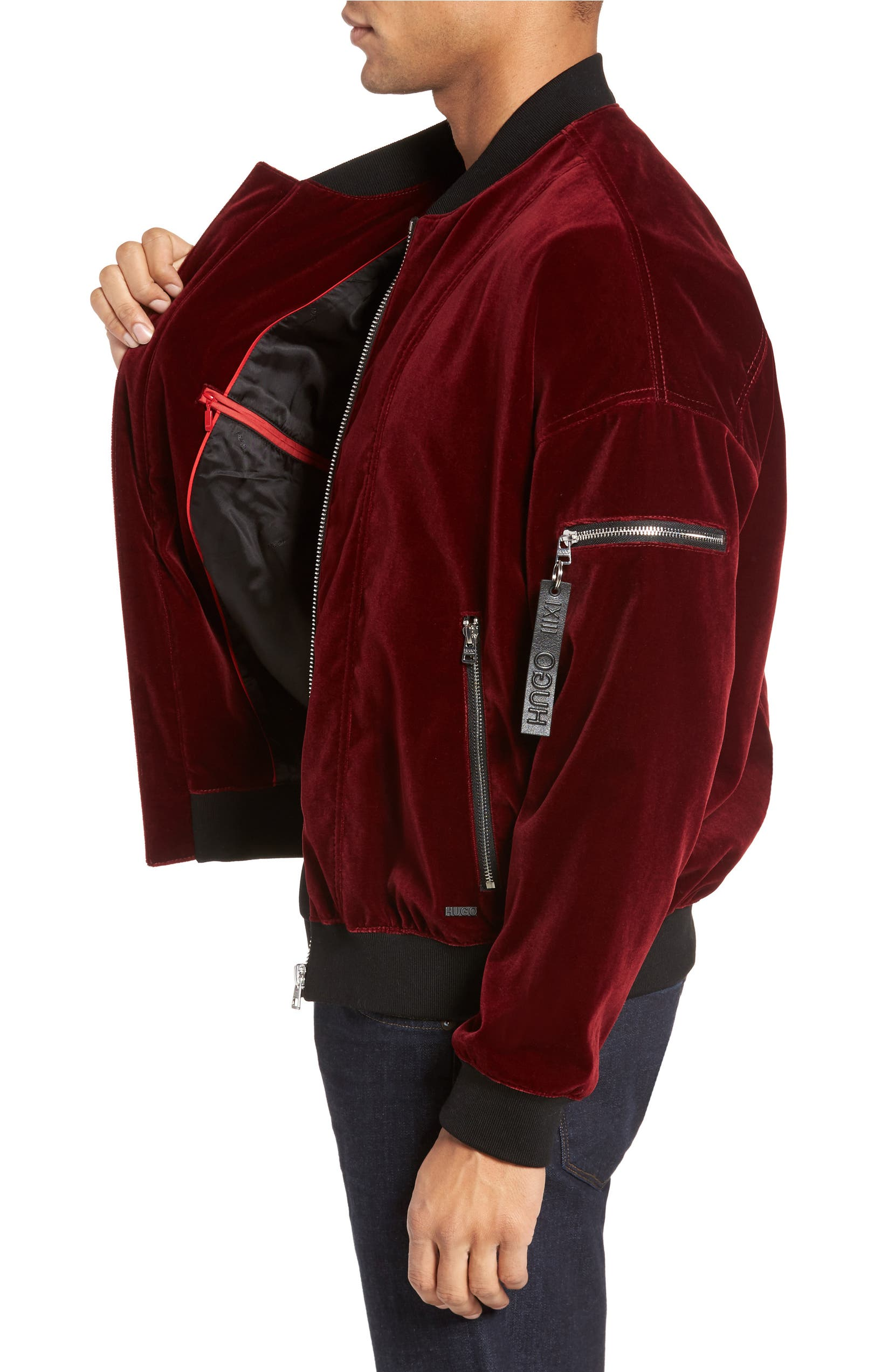 492efbe84 Bitrel Velvet Bomber Jacket