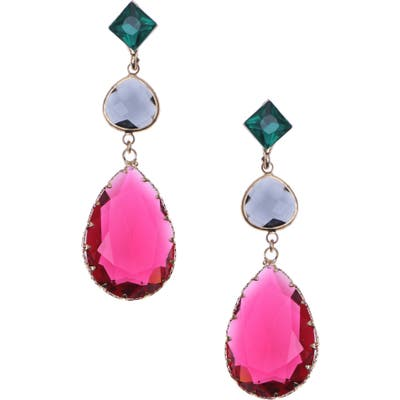 Nakamol Design 3-Stone Drop Earrings