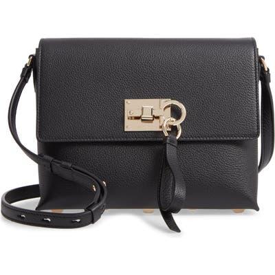 Salvatore Ferragamo The Studio Piccolo Leather Crossbody Bag - Black