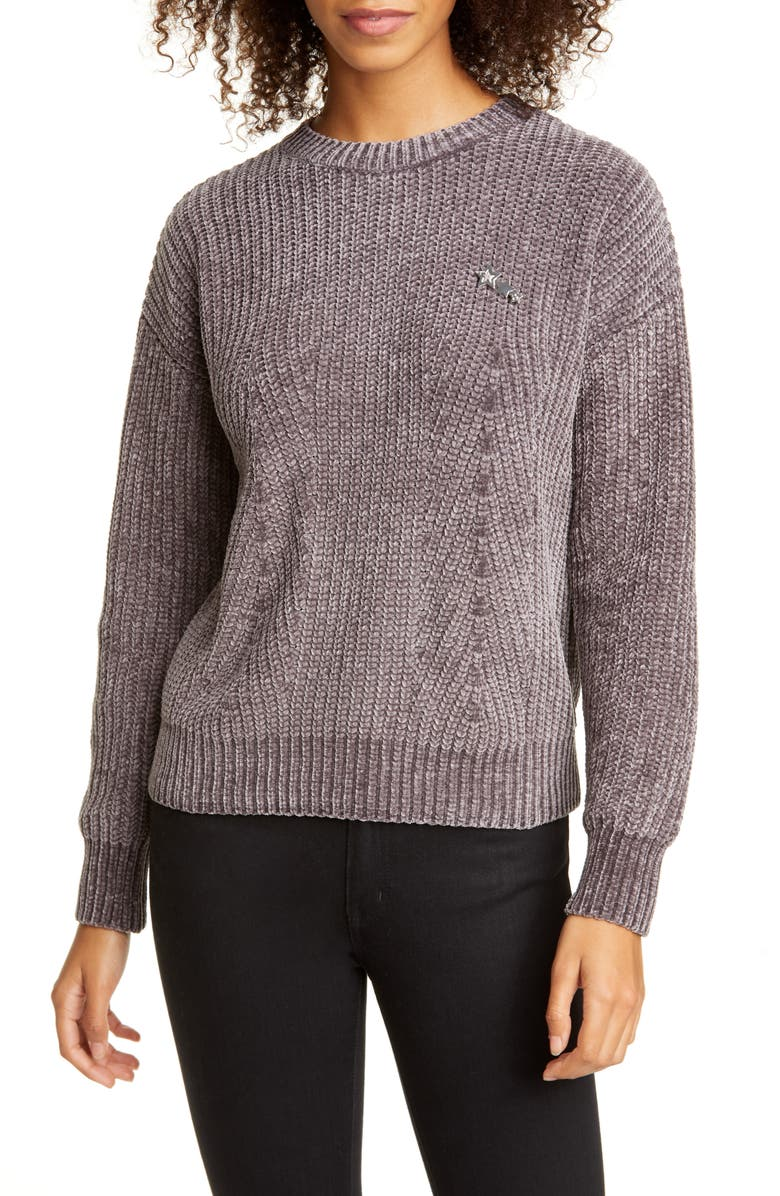 TED BAKER LONDON Innia Chenille Sweater, Main, color, 001