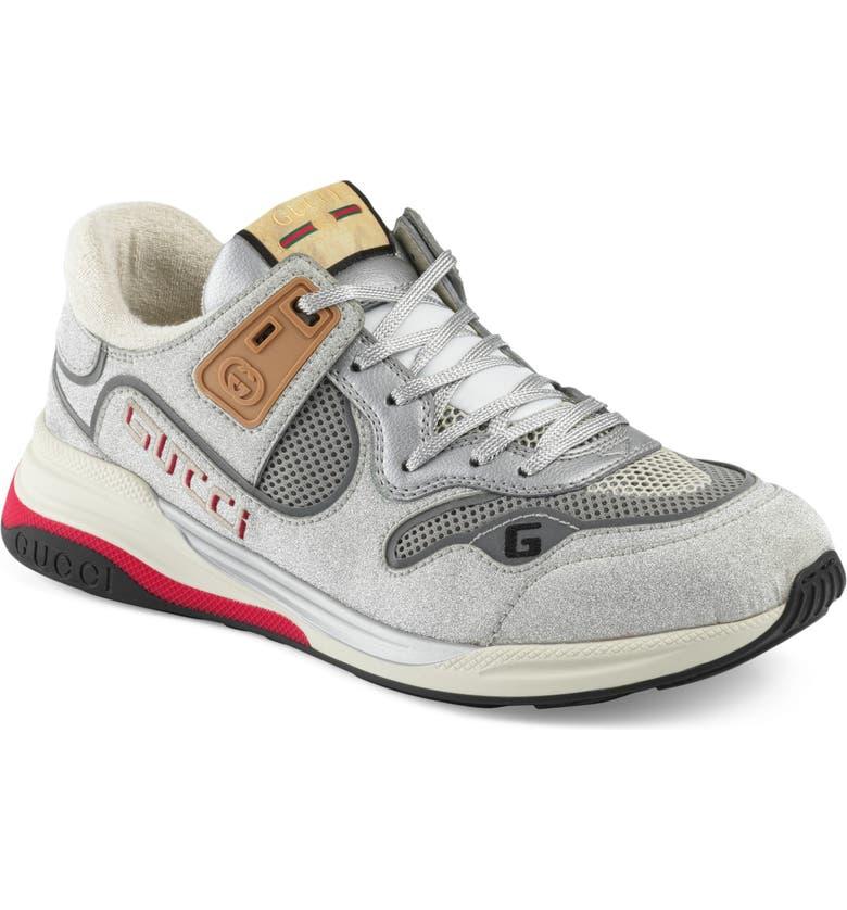 GUCCI Ultrapace Sneaker, Main, color, SILVER