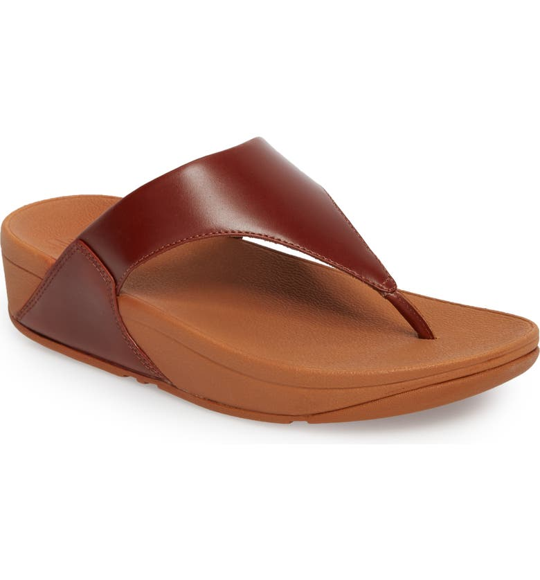 FITFLOP Lulu Flip Flop, Main, color, COGNAC