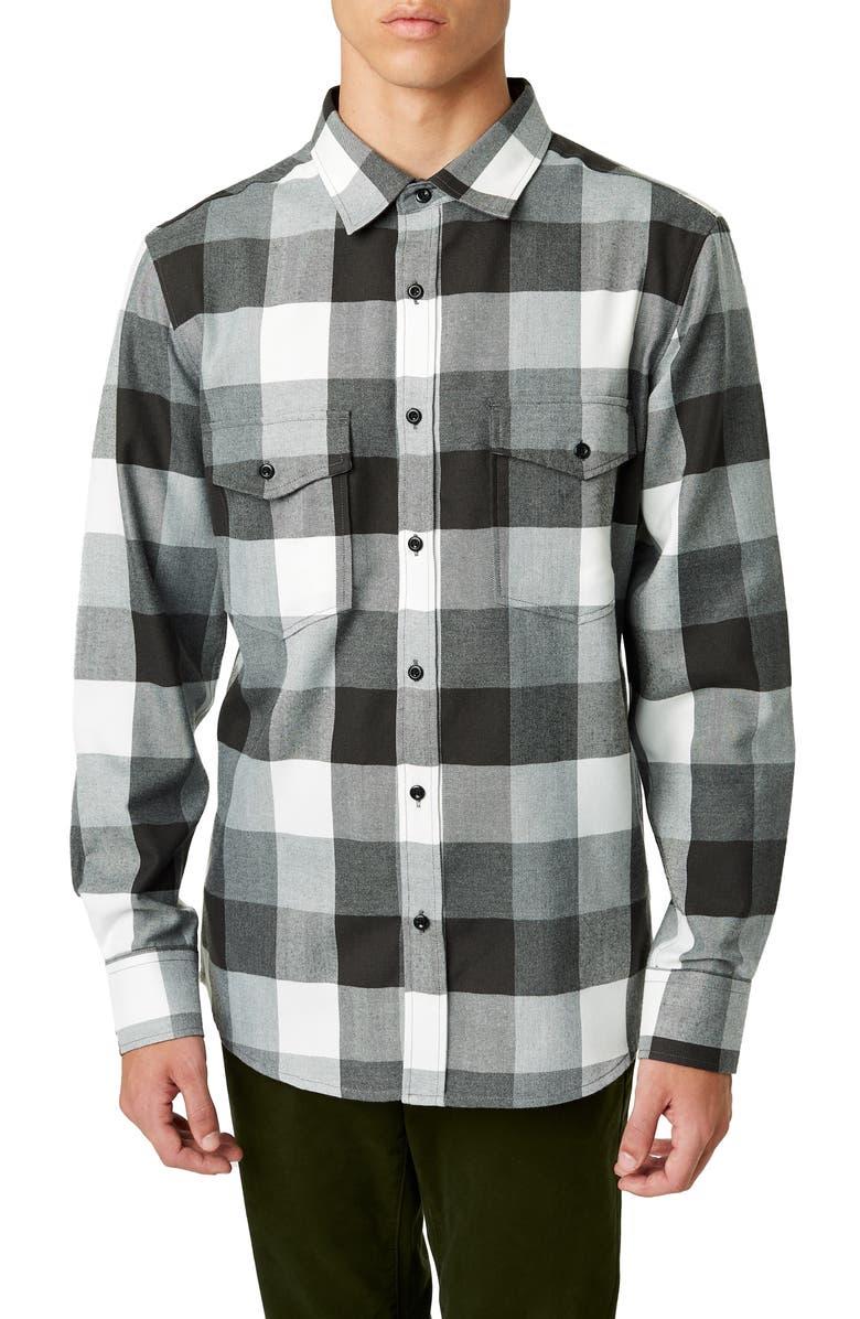 7 DIAMONDS Archer Trim Fit Buffalo Check Sport Shirt, Main, color, 020