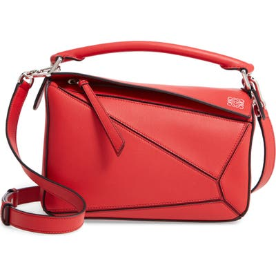 Loewe Puzzle Small Shoulder Bag - Red