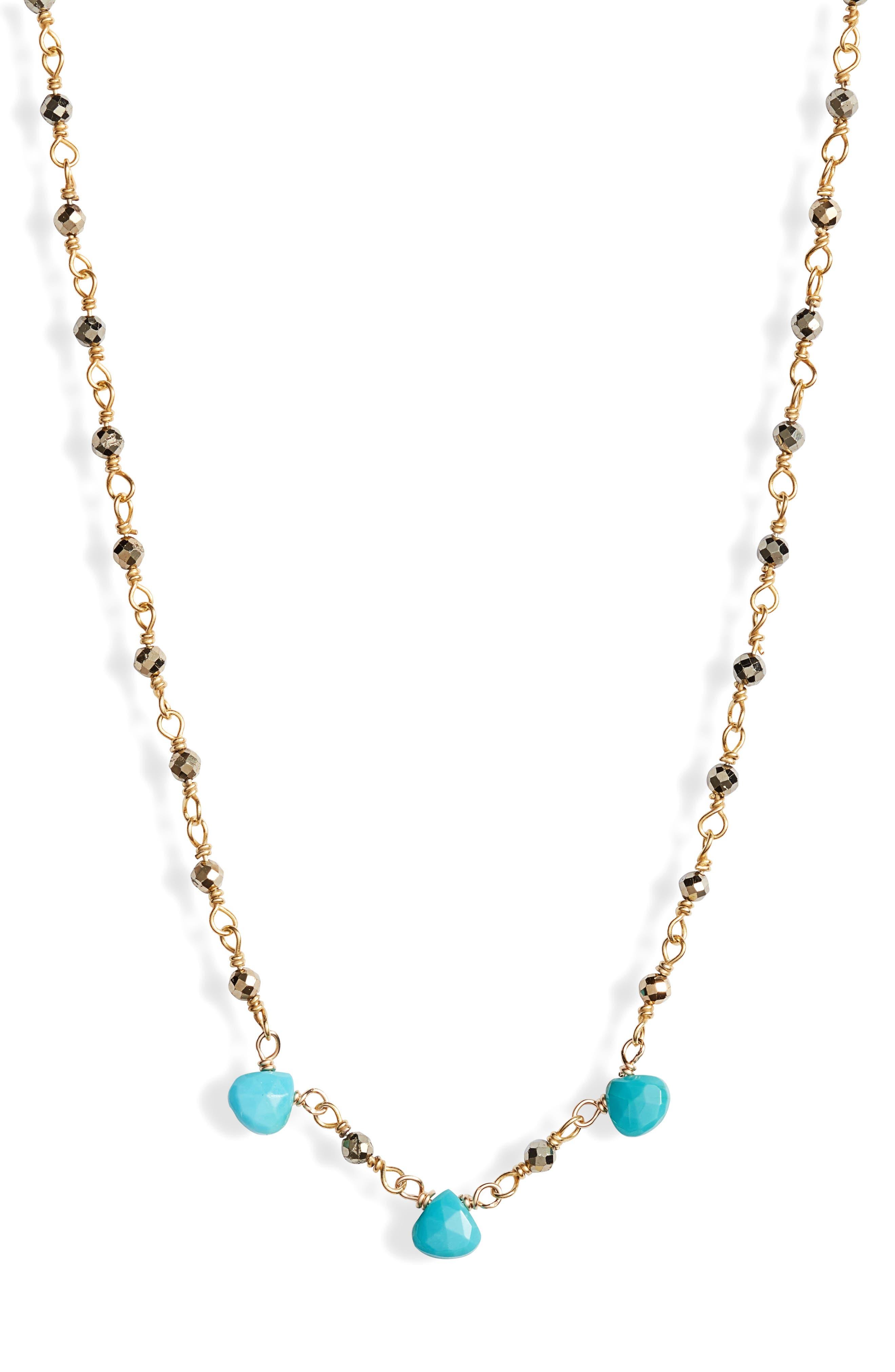 Lori Semiprecious Stone Collar Necklace