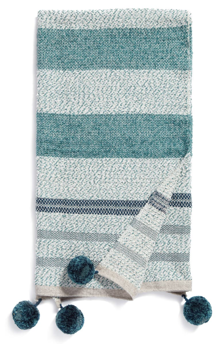 NORDSTROM AT HOME Stripe Throw, Main, color, 440