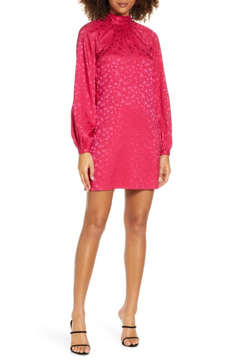 ALI & JAY Samantha Long Sleeve Minidress, Main, color, ROSE