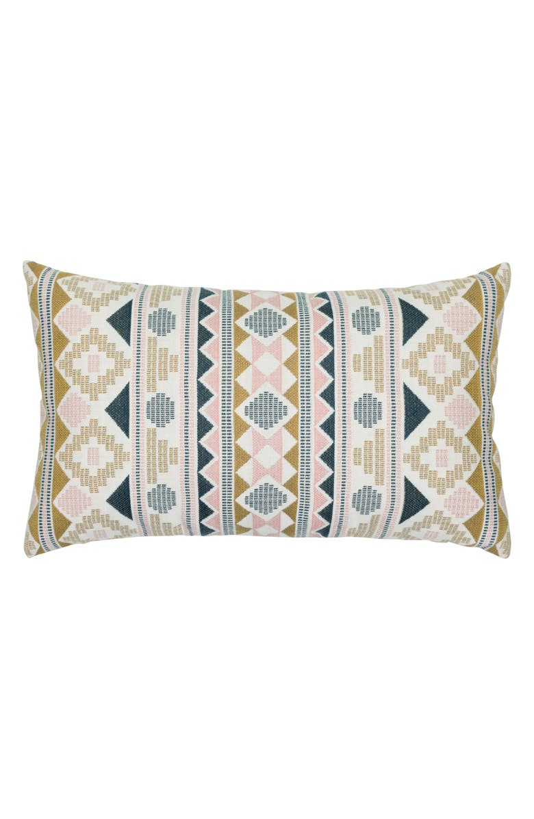 ELAINE SMITH Roca Stripe Indoor/Outdoor Lumbar Accent Pillow, Main, color, BLUE MULTI