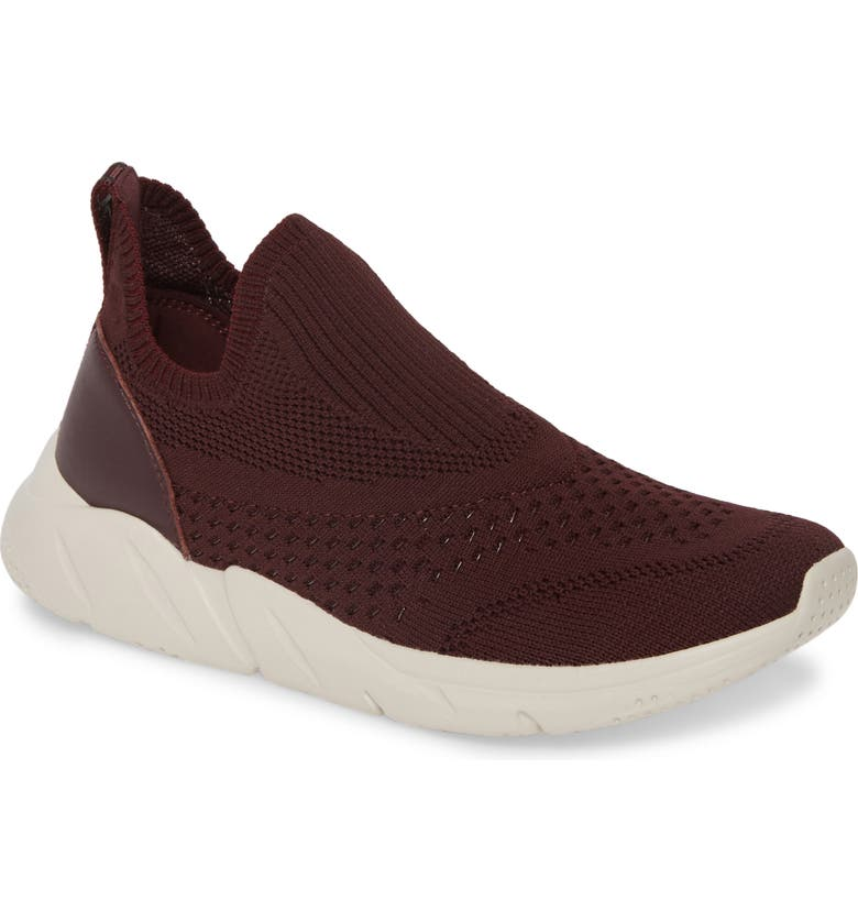 TARYN ROSE Wesley Sock Slip-On Sneaker, Main, color, OXBLOOD FABRIC