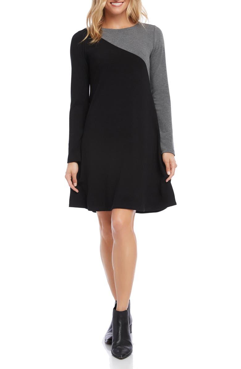 KAREN KANE Colorblock Long Sleeve Sweater Dress, Main, color, 009