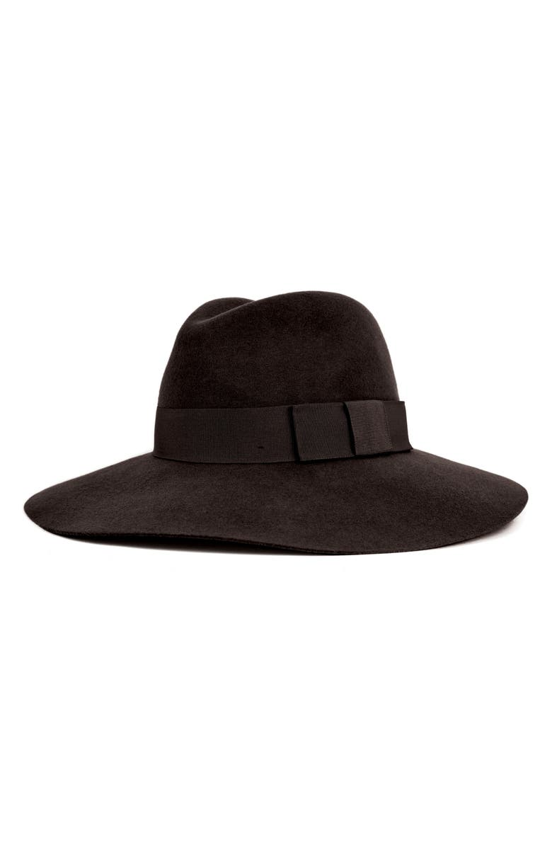 BRIXTON 'Piper' Floppy Wool Hat, Main, color, BLACK/ BLACK