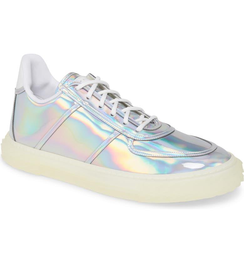 GIUSEPPE ZANOTTI Metallic Sneaker, Main, color, IRIDESCENT
