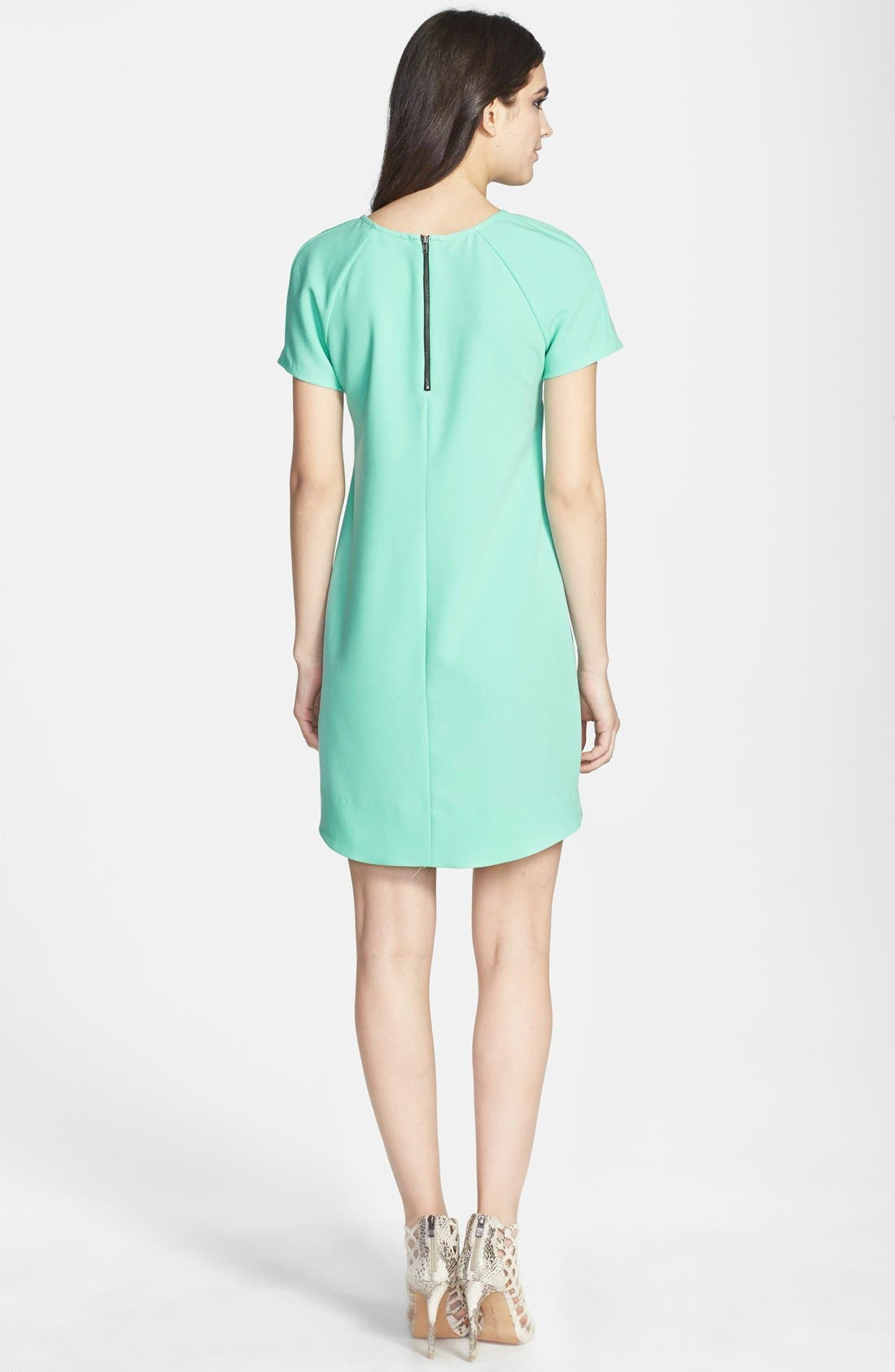 ,                             Crepe Shift Dress,                             Alternate thumbnail 8, color,                             360