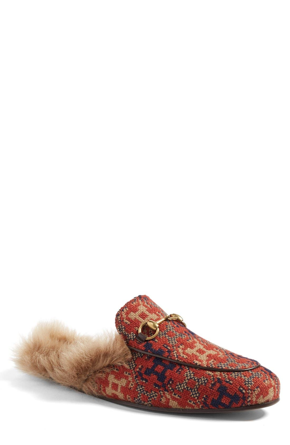 ,                             Princetown Genuine Shearling Lined Mule Loafer,                             Main thumbnail 45, color,                             202