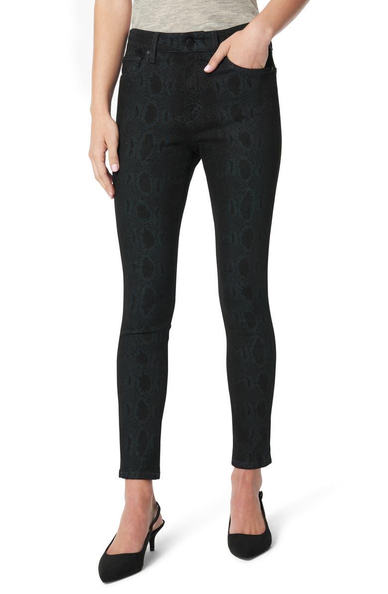 JOE'S The Icon Skinny Ankle Jeans, Main, color, BLACK SNAKE PRINT