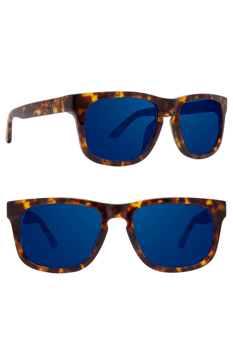 DIFF Riley 52mm Sunglasses, Main, color, TORTOISE/ BLUE