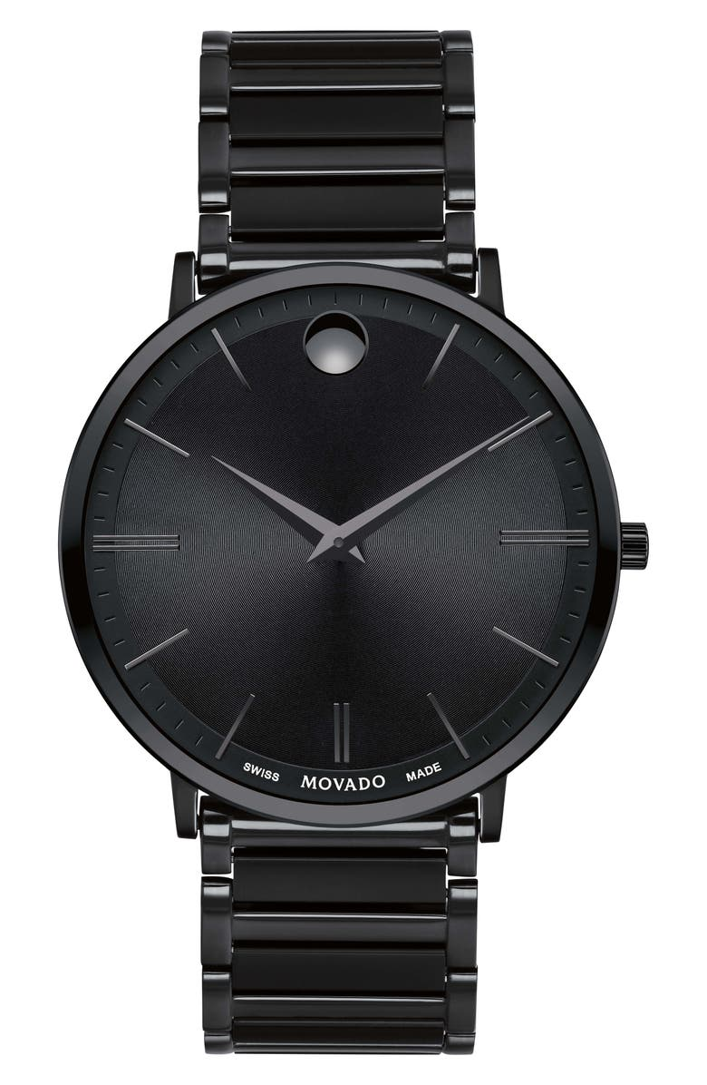 MOVADO Ultra Slim Bracelet Watch, 40mm, Main, color, 001
