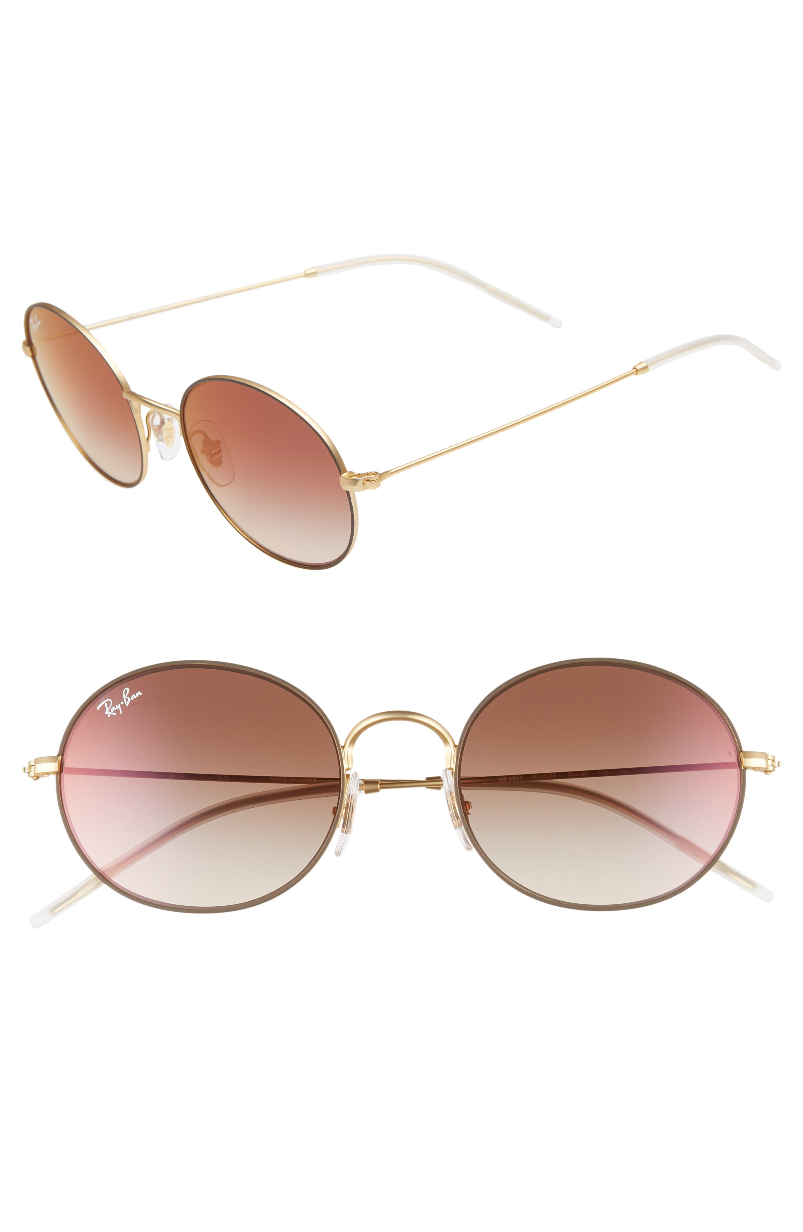Ray-Ban 5m Round Sunglasses - Gold Brown