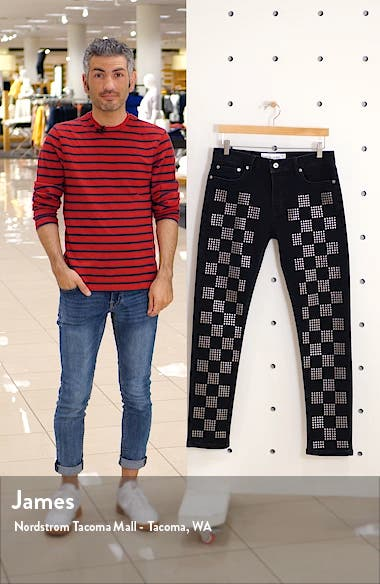 Check Stud Skinny Fit Jeans, sales video thumbnail