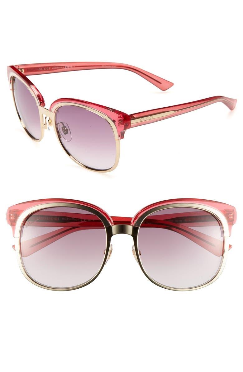 GUCCI 56mm Sunglasses, Main, color, 710