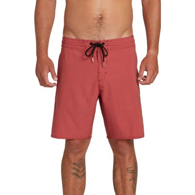 Volcom Solid Stoney Board Shorts, Red