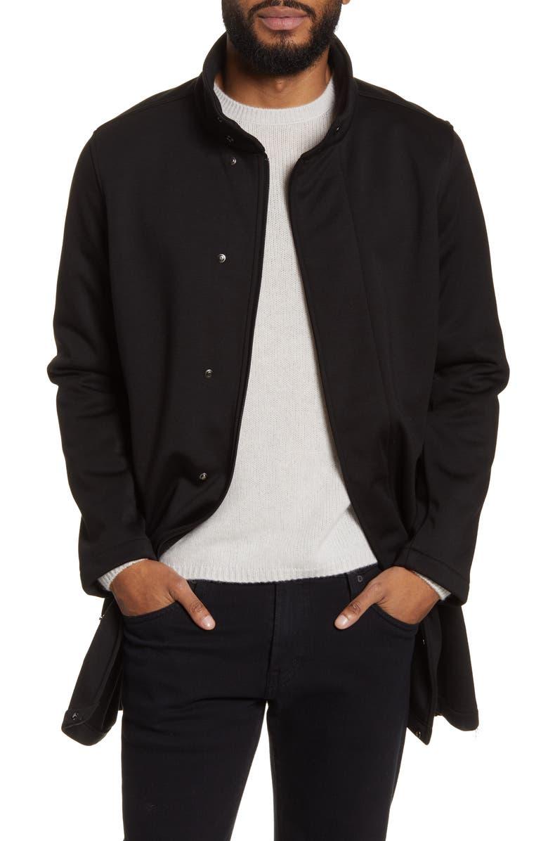 CALIBRATE Water Repellent Trench Coat, Main, color, BLACK JASPE HERRINGBONE PLAID