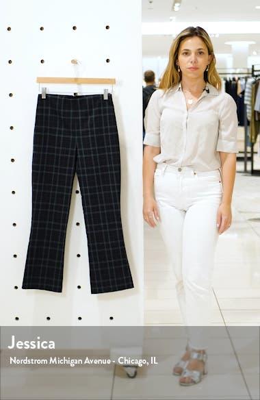Marie Plaid Crop Flare Pants, sales video thumbnail