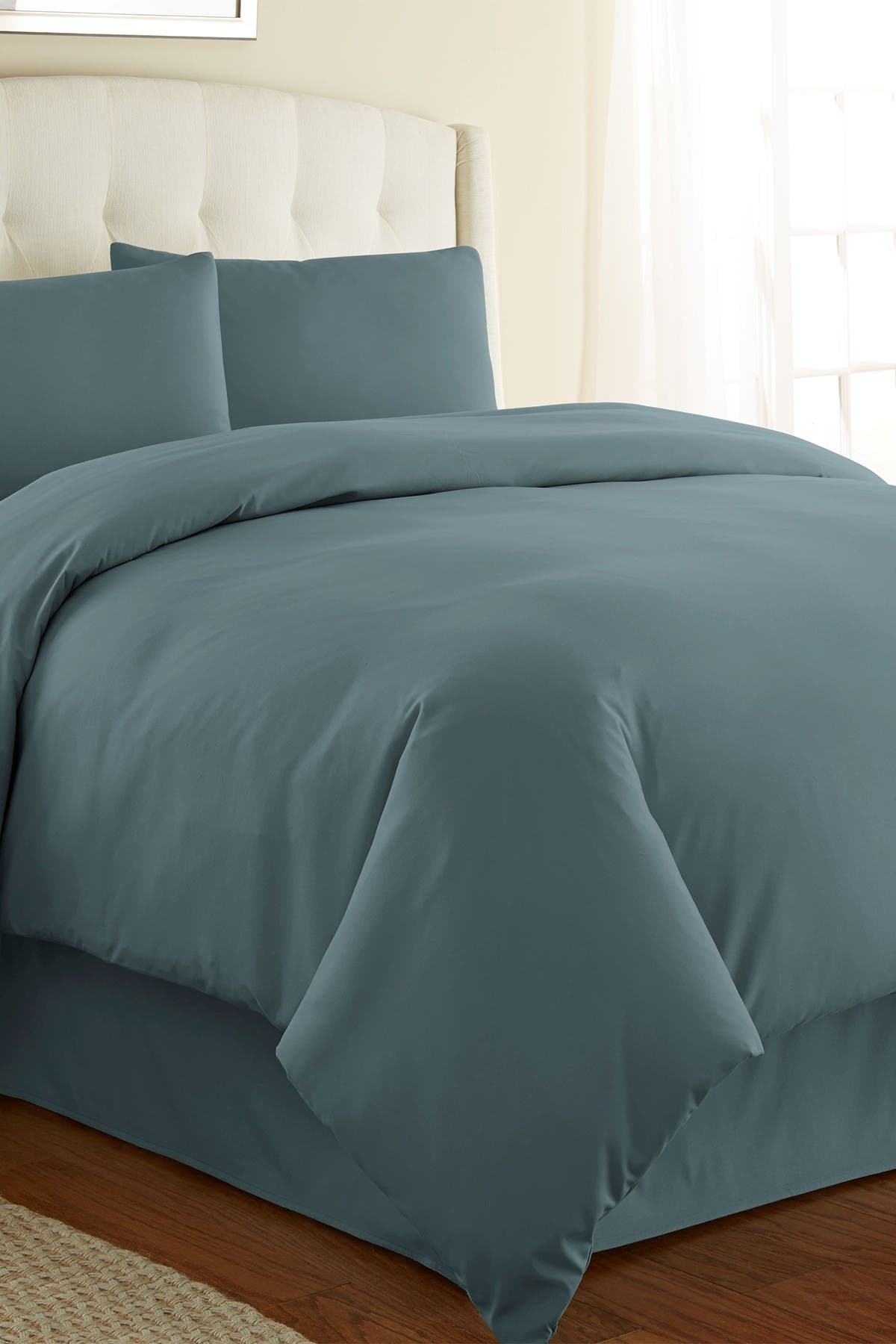 Image of SOUTHSHORE FINE LINENS Full/Queen Southshore Fine Linens Vilano Springs Duvet Cover Sets - Steel Blue