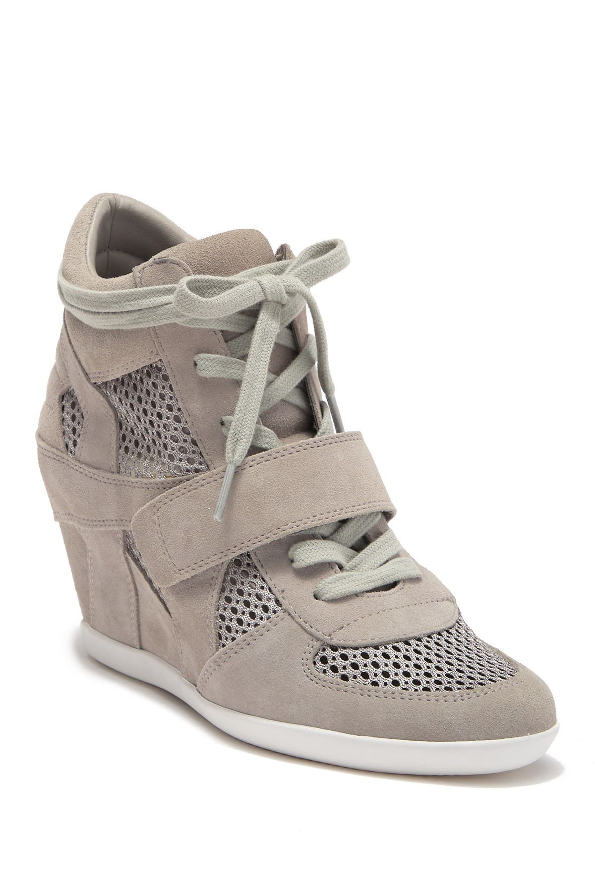 Ash | Bowie Suede Perforated Wedge