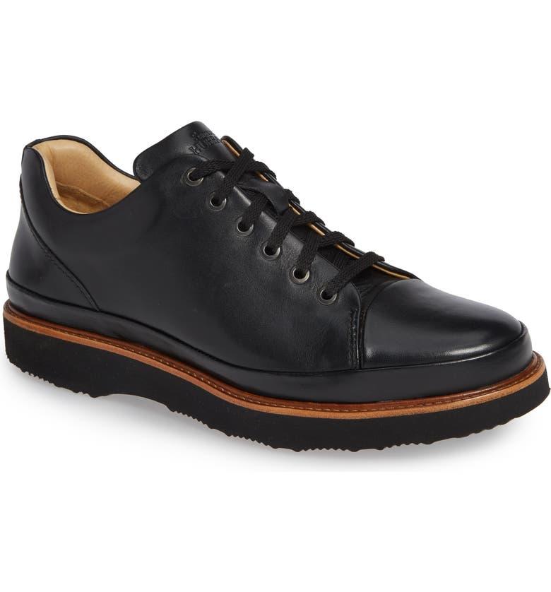 SAMUEL HUBBARD Dress Fast Plain Toe Oxford, Main, color, BLACK/ BLACK