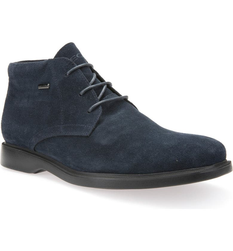 GEOX Brayden - ABX Amphibiox<sup>®</sup> Waterproof Oxford, Main, color, NAVY LEATHER