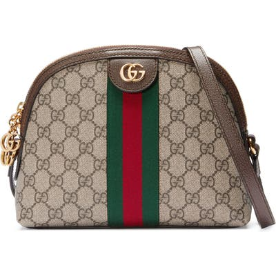 Gucci Gg Supreme Canvas Shoulder Bag - Beige