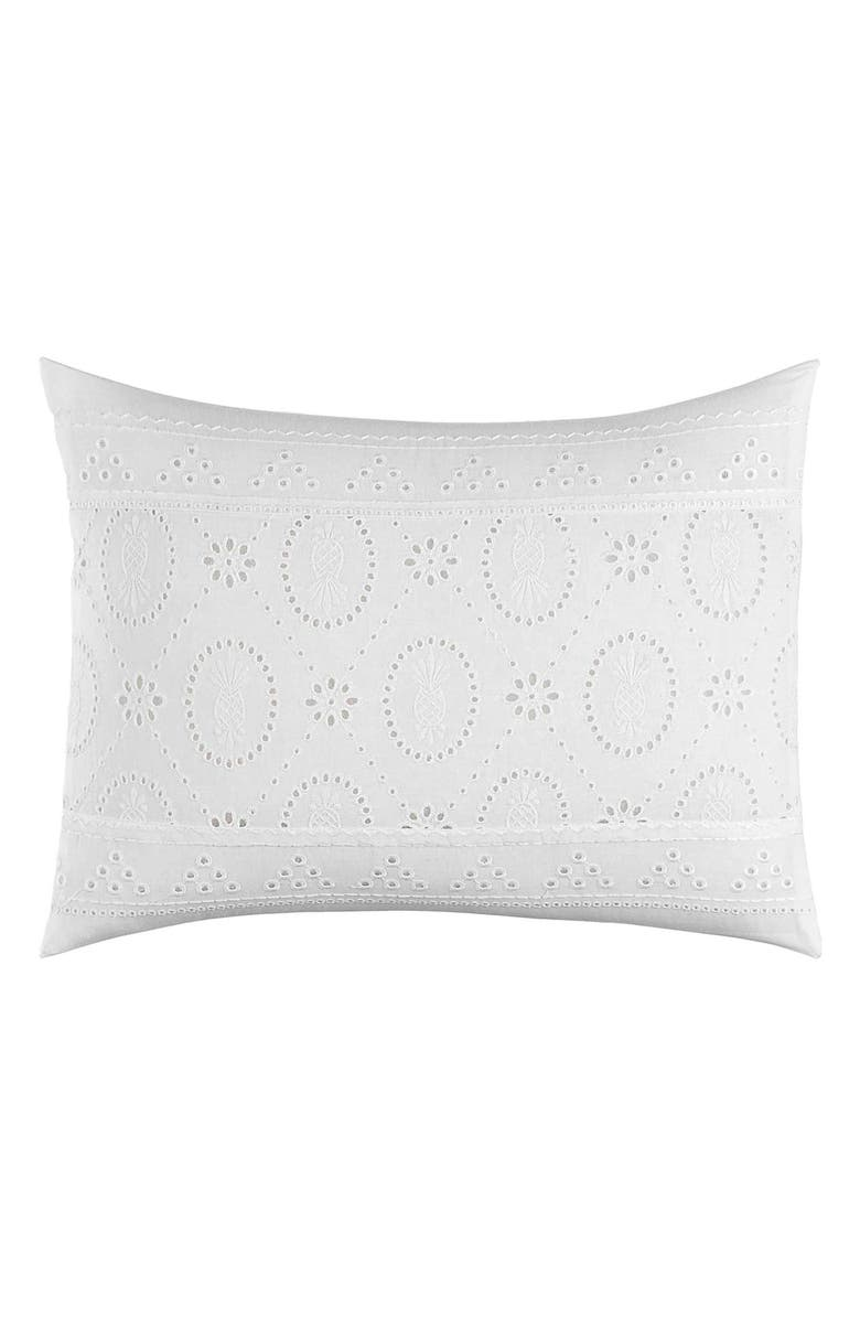 Tommy Bahama Siesta Key Pineapple Eyelet Breakfast Pillow