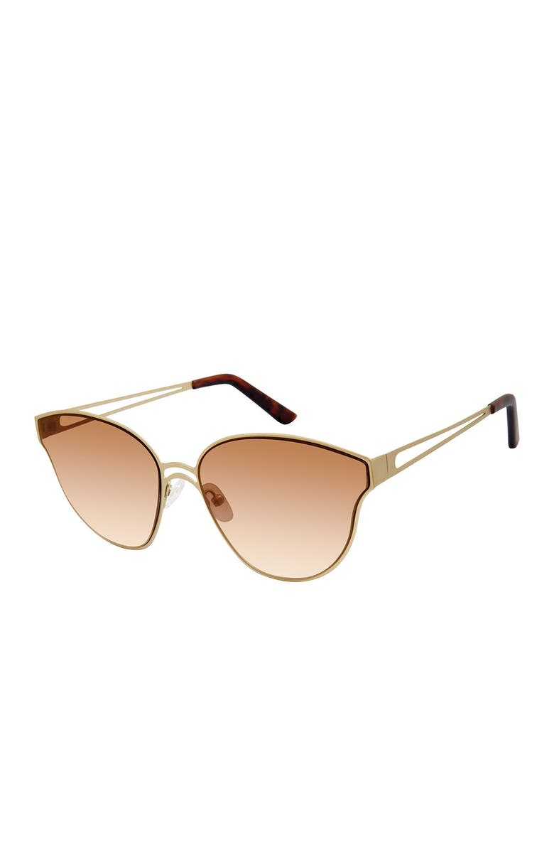 TRUE RELIGION 58mm Geometric Sunglasses, Main, color, GOLD