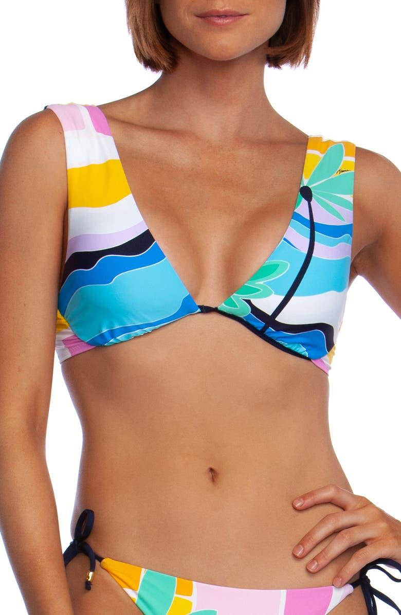 TRINA TURK Mosaic Sunrise Underwire Bikini Top, Main, color, PINK MULTI