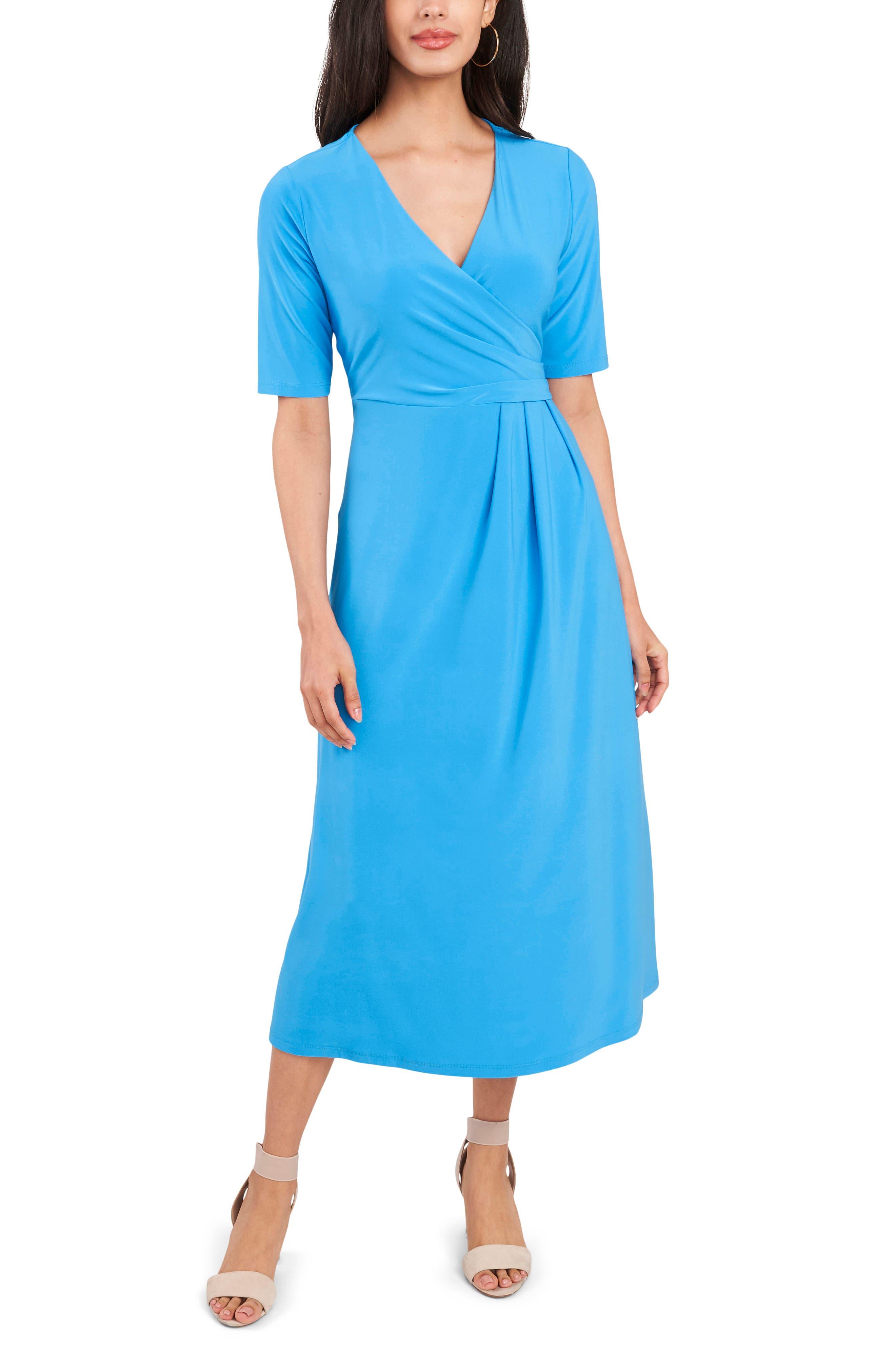 Laura Faux Wrap Midi Dress