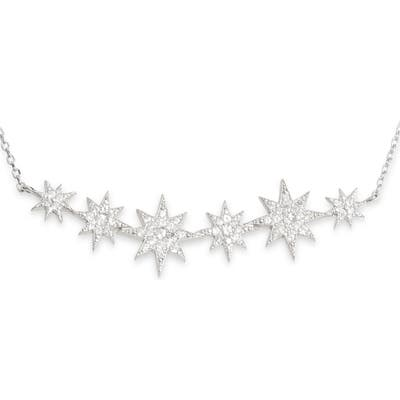 Anzie North Star Bar Pave Necklace
