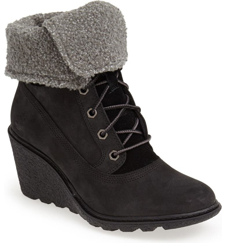 TIMBERLAND Earthkeepers<sup>®</sup> 'Amston' Wedge Boot, Main, color, 001