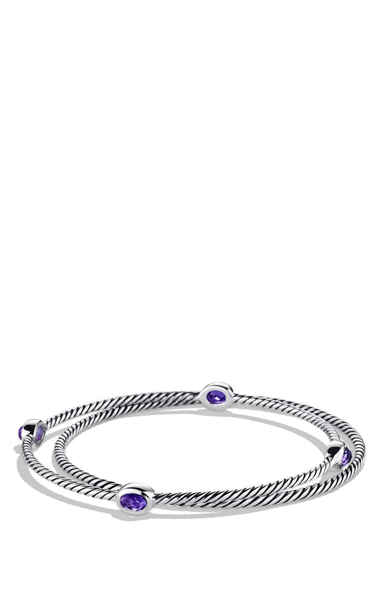 DAVID YURMAN 'Color Classics' Set of 2 Bangles with Semiprecious Stones, Main, color, AMETHYST