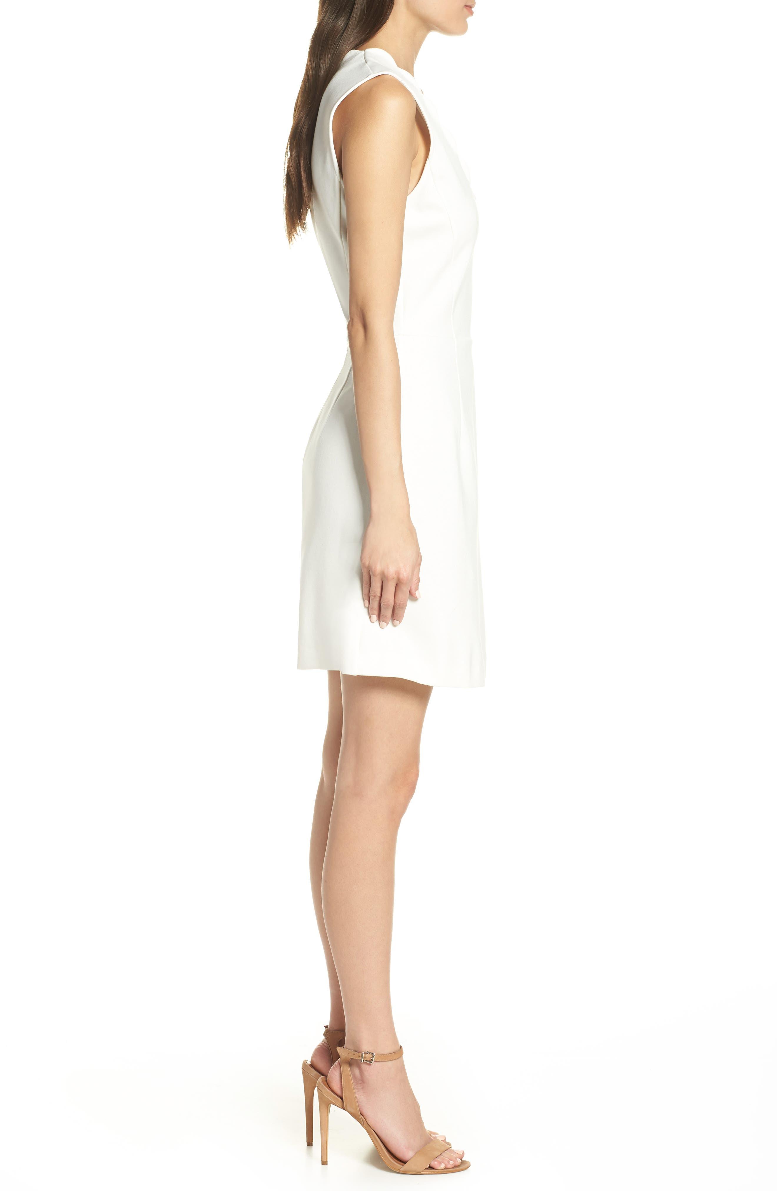 ,                             Lula Sundae Scalloped Sheath Dress,                             Alternate thumbnail 4, color,                             SUMMER WHITE