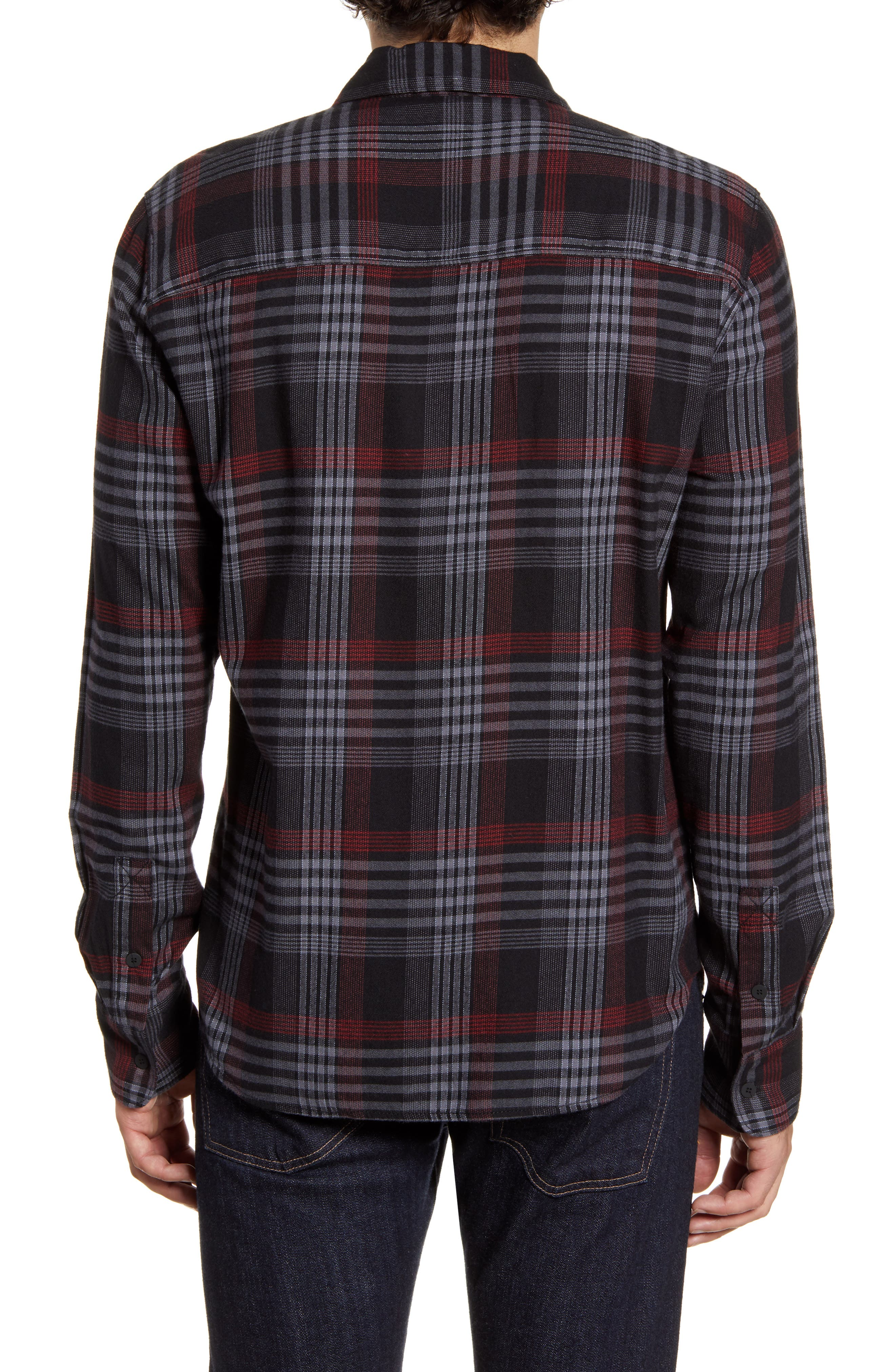 Paige T-shirts Everett Regular Fit Plaid Button-Up Shirt