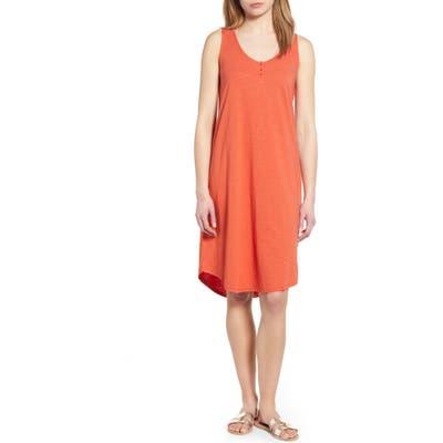 Caslon Shirttail Hem Tank Dress, Red