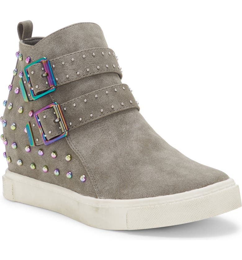 VINCE CAMUTO Studded High Top Sneaker, Main, color, STONE
