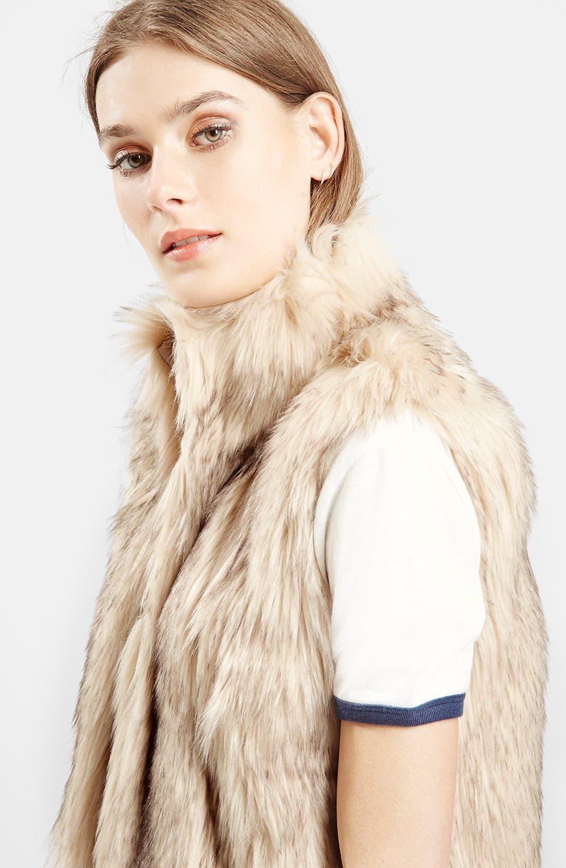 ,                             'Polo Leah' Faux Fur Vest,                             Alternate thumbnail 3, color,                             900