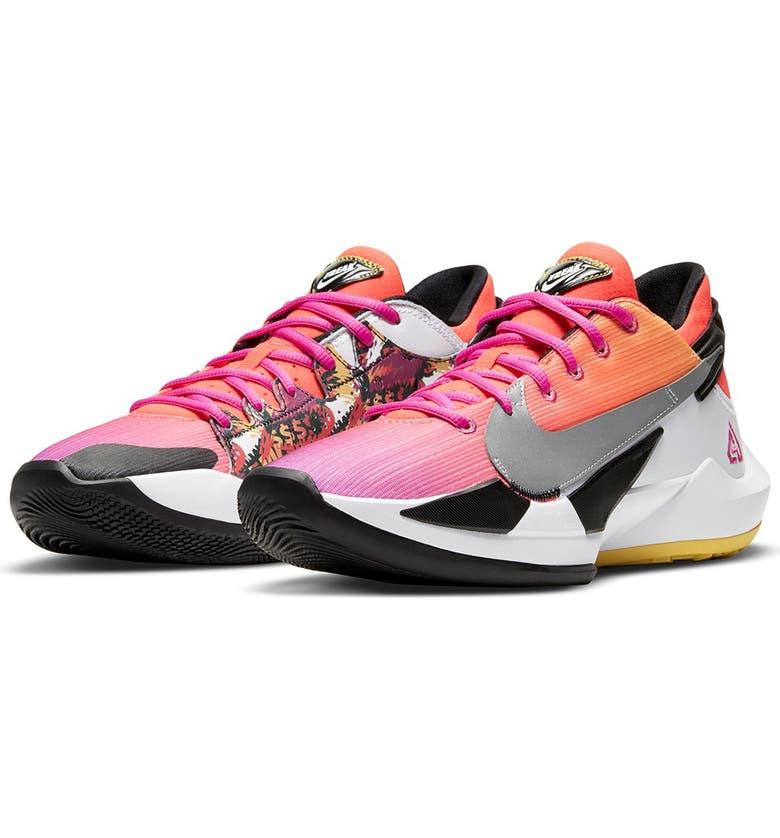 NIKE Zoom Freak 2 Basketball Shoe, Main, color, 600 BRIGHT CRIMSON/BLACK-PINK