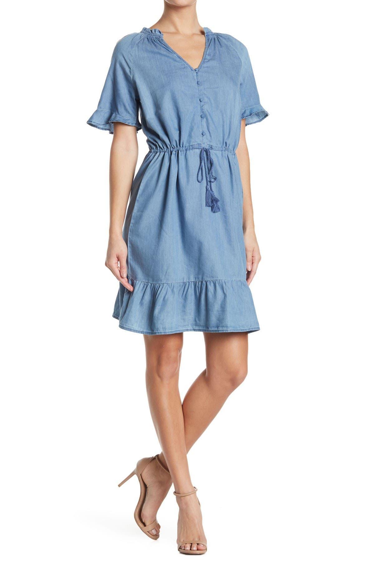 Image of C & C California Emma Woven Tassel Dress
