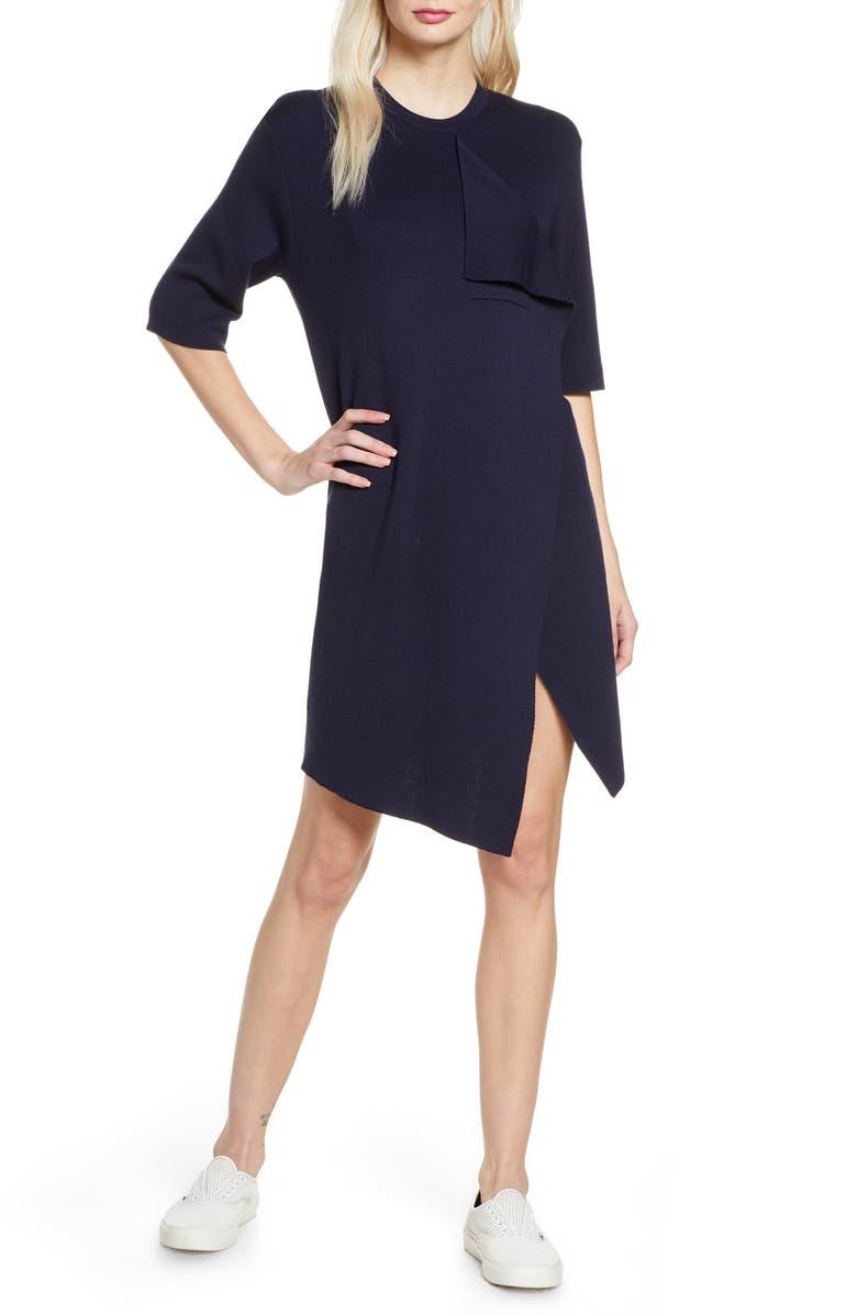 CAARA Tumbell Sweater Dress, Main, color, NAVY
