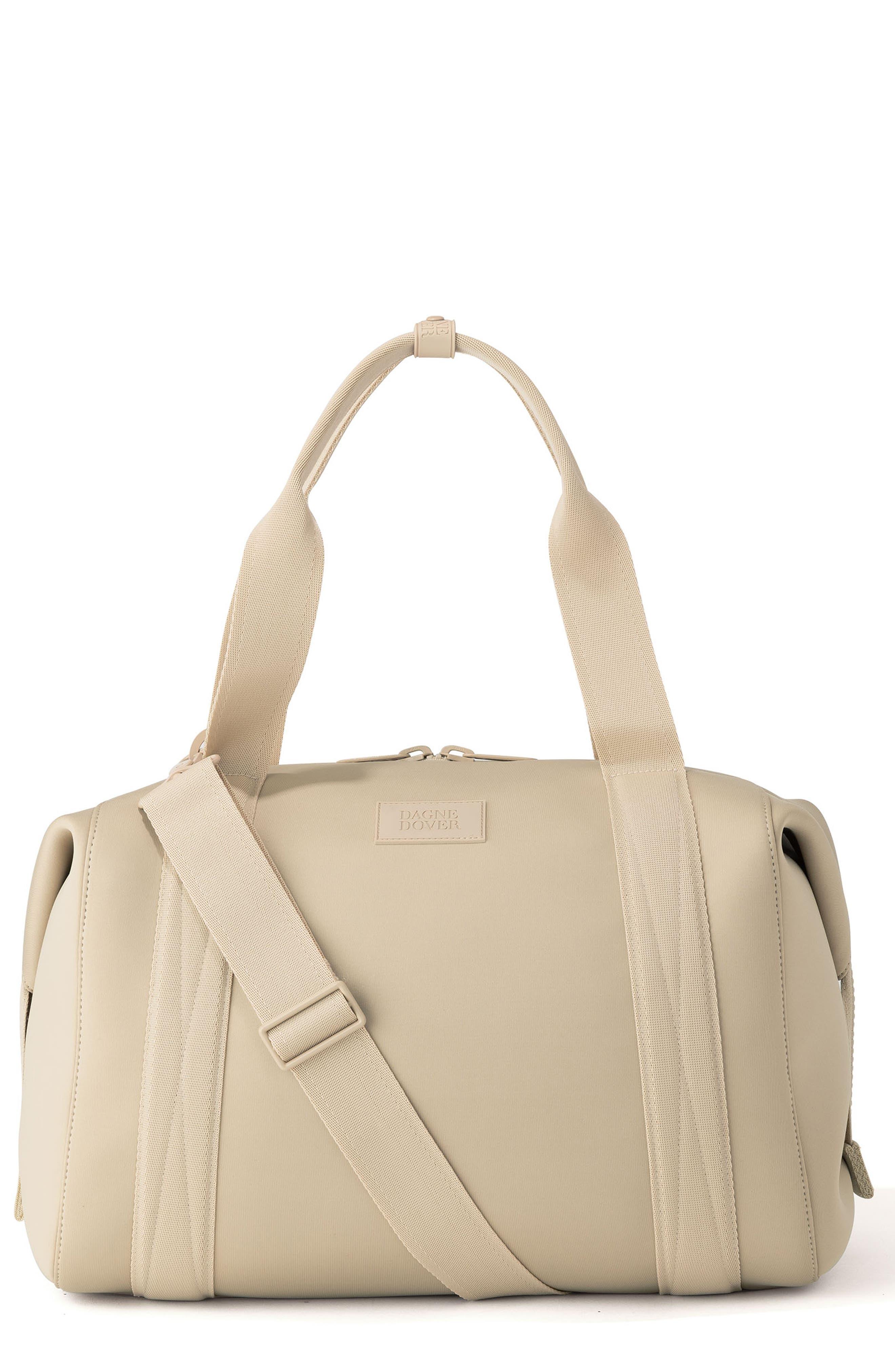 365 Large Landon Neoprene Carryall Duffle Bag, Main, color, ALMOND LATTE